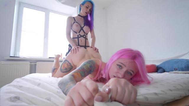 Жаркие проститутки сосут члены своих клиентов и отдаются им во все предельно рабочие отверстия